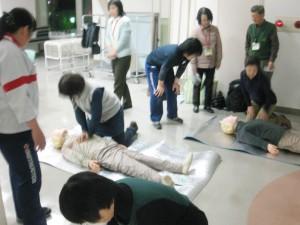 AED講習会のもよう